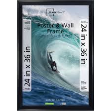 details about 24x36 casual poster and picture frame black 24 x 36 mainstays wood frames