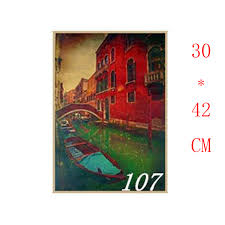 Дешёвые Курсовой Работы и схожие товары на aliexpress 107 Венеция Реки курс лодки Известный дизайн вид крафт бумага
