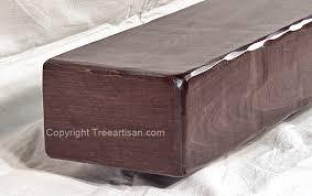fireplace mantel floating shelf rustic or modern custom walnut beam 2