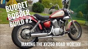 budget bobber build 2 making the yamaha virago xv250 road