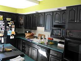 kitchens with dark painted cabinets.  With Black Painted Kitchen Cabinets With Yellow Wall And Kitchens Dark E