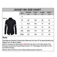 Jackeywu Brand Casual Men Shirt 2019 Korean Fashion Side