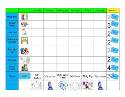 Good Behavior Chore Chart Printable Chore Chart Kids