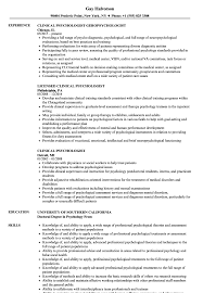 Clinical Psychologist Psychologist Resume Nice Service Resume