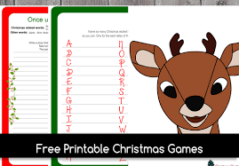 7 Free Printable Christmas Games