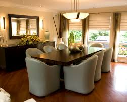 contemporary dining table decor. Using A Variety Of Buffet Table: Modern Classic Style Table And Glossy Dining Contemporary Decor