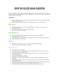 How To Make A Good Resume With Little Experience Nfcnbarroom Com