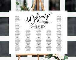 Wedding Seating Chart Poster Board Seating Chart Template Wedding Seating Chart Seating Plan