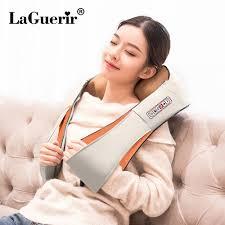 LaGuerir Home Car U Shape <b>Electrical Shiatsu</b> Back Neck Shoulder ...