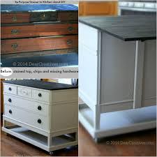 Kitchen Island Diy Dresser To Kitchen Island Cart Diy With Chalkyfinish Paint