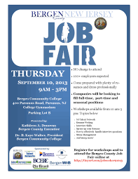 bergen community college job fair 10th psgcnj newsletter bergen county job fair 10 2013 flyer