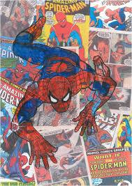 vintage comic book panel spiderman shower curtain