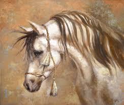 original art horse acrylic oil on canvas painting by dmitry spiros 24x32 in 60cm x 80cm