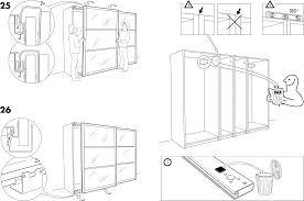 Handleiding Ikea Pax Stordal Schuifdeuren Pagina 5 Van 12 Dansk Ikea Pax Kast Schuifdeuren Handleiding