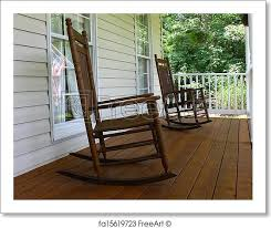 wooden rocking chairs for front porch. Beautiful Chairs Free Art Print Of Two Brown Wooden Rocking Chairs On A Stained Front  Porch Durring Nice Summer Day Inside Wooden Rocking Chairs For Front Porch C