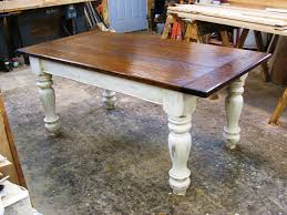 White Distressed Kitchen Table Quarter Sawn White Oak Table Farmhouse Dining Tables Other Metro