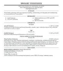 Maintenance Technician Resume Sample Aircraft Mechanic Resume Template Best Aircraft Mechanic Resume