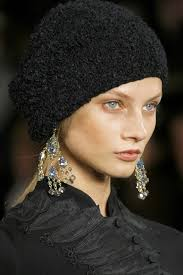 gold chandelier hippie style earrings at philip lim s fall 13 collection ralph lauren aw13