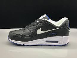 honesty nike air max 90 leather black white blue men s women s running shoes