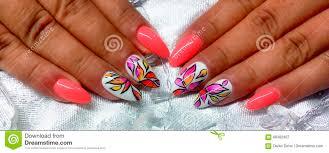 Lovely Nail Design Nail Art Stock Image Image Of Arms Hend Lovely Finger