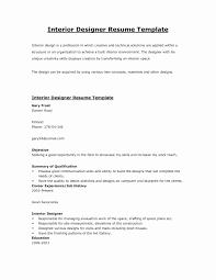 Interior Designer Resume Sample Experience Certificate Format Interior Designer Copy Interior 20