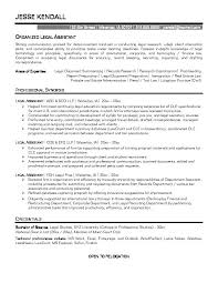 Legal Resume Examples - Resume Templates