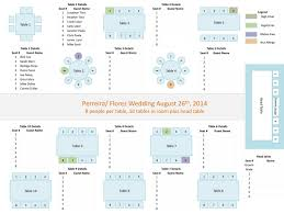 Wedding Table Seating Chart Template Free Templates