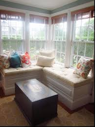 storage bench for living room: full image for built in window bench  perfect furniture on how to build a window