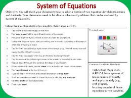of equations objective you will teach your