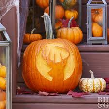 Hunting Pumpkin Carving Pattern Simple Inspiration Design