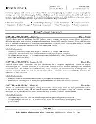 Events Coordinator Resume Example Event Assistant Sample Restaurant