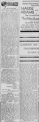 Geo. E Warner Obit-01 WTM 11-07-1931 - Newspapers.com
