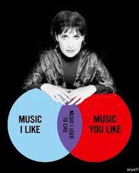 Music You Like Music I Like Venn Diagram Diesel Sweeties Store Musical Elitism Venn Diagram Shirt