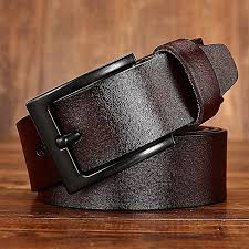 leather belt wild leather pin buckle belt gold world pin buckle leather belt men 120cm