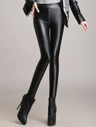 outfit skinny high waisted faux leather pants