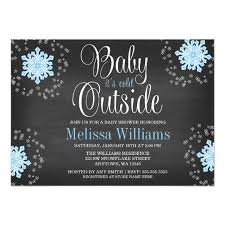 Snowflake Baby Shower Invitations Baby Its Cold Outside Blue Snowflakes Baby Shower Invitation