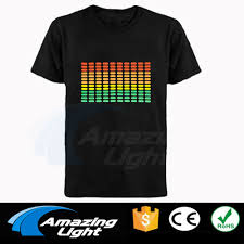 Light Up Shirts Us 12 59 10 Off Fast Shipping Unisex El T Shirt Sound Activated Flashing T Shirt Light Up Down Music Party Equalizer Led T Shirt In T Shirts From