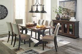zurani rect drm table 6 uph side chairs