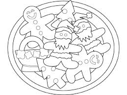 Cookies Gingerbread Man Coloring Pages Classic Style Printable