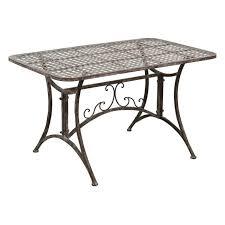 Tables fer forgé rouille finition table fumer vieillie L100xPR60xH57 ...