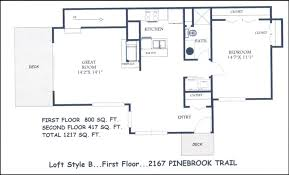 house plans with loft. House Plans With Lofts Loft Style Floor Home Designs