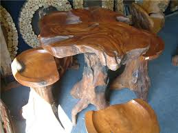 Image Table Tbr Products Teak Root Furniture Unusual Unique Garden Indoor Furniture