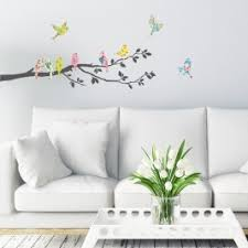 floral birds on tree branch wall stickers on nursery wall art stickers uk with wall art stickers nursery wall art stickers decowall uk ltd