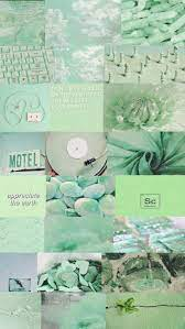 aesthetic wallpaper green mint