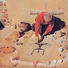 native american indian sand painting