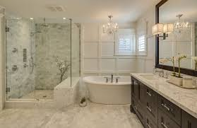 small chandeliers for bathroom. this beautiful contemporary master bathroom features an enormous vanity with white marble countertops and a large small chandeliers for