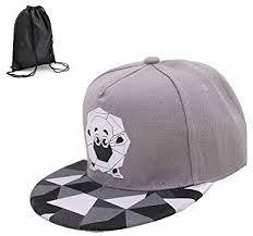 Bgyz Men Solid Flat Bill Hip Hop Snapback Picture Hat Paper