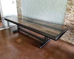 metal industrial furniture. Industrial Furniture Table. Steel And Reclaimed Wood Conference Table #064 \\u2022 Metal