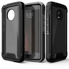 motorola e4 phone case. zizo ion case for motorola moto e4 - military grade drop tested + tempered glass screen protector phone