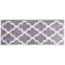 trellis silver 24 in x 60 in bathroom mat